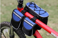 New 2014 Hot sales Bicycle Cycling Bike bike bicycle 3 IN 1 Multi-function front frame tube pannier Bag Rain Cover Blue BG013
