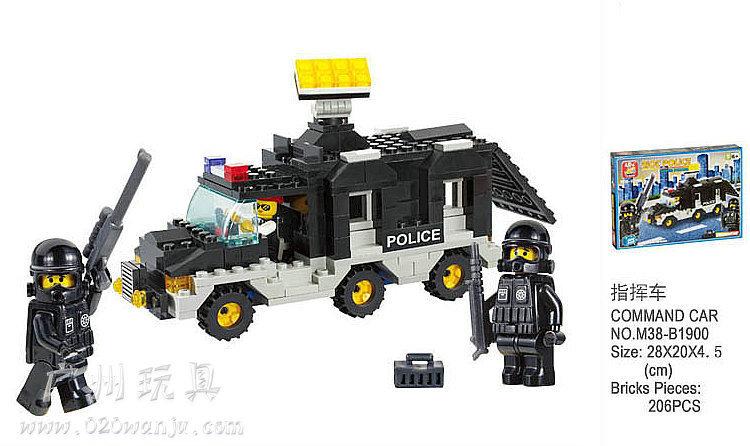 2x without origin box slubanBuilding Block Set SLuBanM38-B1900 Riot cop/command vehicle 207PCS(China (Mainland))