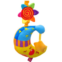 Lalababy book baby music bed bell lathe hang baby toy 0-1 nighty-night moon year old