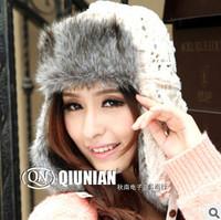 Free Shipping Woman Winter Warm Fashion Leopard  Bomber Hats.Lady Faux Fur Ear Cover Hat/Russian Snow Skullies Caps Freesize