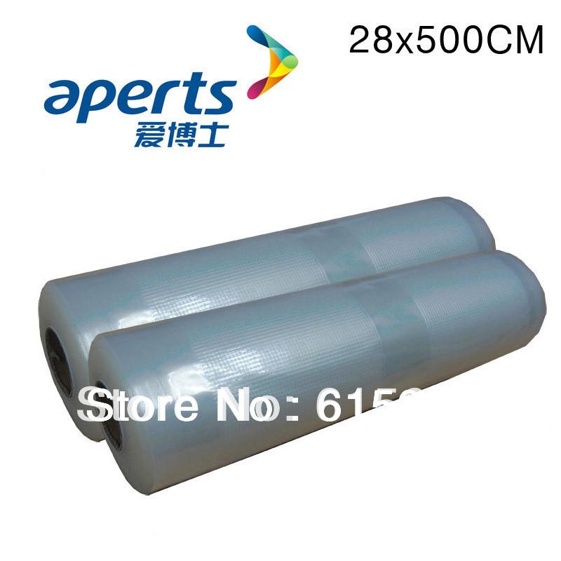 "FedEx/EMS Free Shipping, High quality vacuum food bag sealing bag 28x500CM(11""x197""),wholesales 1dozen/ lot(China (Mainland))"