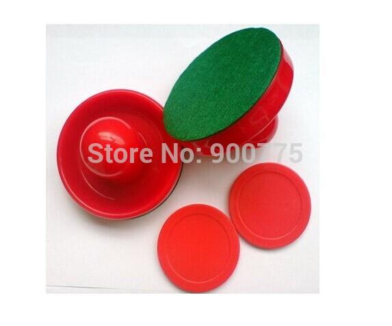 Air Hockey 75mm Goalies & 50mm Puck Felt Pusher mallet /Free Shipping(China (Mainland))