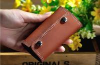 2014 NEW Portable fashion vintage genuine Leather car Key Bag KeyChain Keys Wallet Holder Purse solid color key chain bag