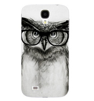 1pcs Hot Sale New Arrive personality vivid so cute with glasses owl back cover case for samsung note 3 s4 s5 Painted