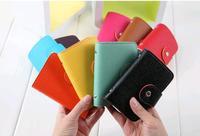 2014 Hot fashion KOREAN PU Leather Name Card Holder, card & ID, Organizer Wallet Bank Credit Card name card holder hasp bag