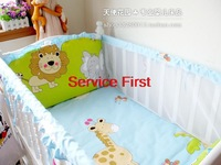 Hot 2014 Summer breathable crib around Bear Cartoon Summer Infant bedding package, customizable ruffle washable, safe bed around