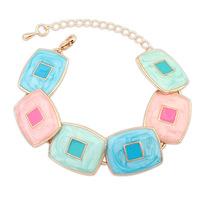 2014 New Elegant Geometric Square Simple New Design Statement Charms Bracelets&Bangles Fashion Women Jewelry