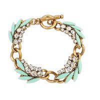 2014 New Luxury Elegant Bohemia Ethnic Crystal Branches Design Statement Charms Bracelets&Bangles Fashion Women Jewelry