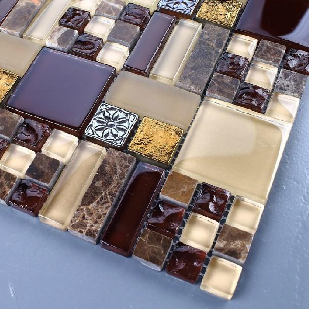 Online kopen wholesale donkere tegels emperador uit china donkere tegels emperador groothandel - Deco mozaieken badkamer ...