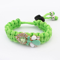 2014 New Luxury Elegant Shourouk JC Style Crystal Water Drop Gem Design Statement Charms Bracelets&Bangles Fashion Women Jewelry