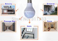 2pcs/lot White Warm White PIR LED Globe Motion Sentitive 3W 5W 7W 80LM/W  180-250V