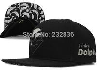 HOT! 2014 Brand New black LEOPARD PINK DOLPHIN WAVES Snapback Caps hip hop sports strapback Hats high quality bone Baseball Cap