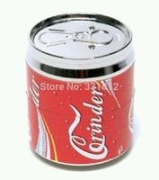 red pop can grinder smoking pipe metal click n vape 4 layer rasta  50*56cm free shipping