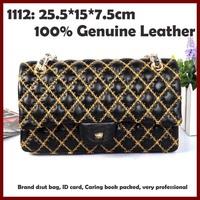 Brand Women Leather Handbags 1112 Genuine Leather 25.5 Women Shoulder Bags Hot Sale Classic Women Bags