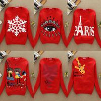Red series 2014 New Fashion Cartoon Punk Print Tracksuits Loose Animal Autumn/Winter Lovers Sweatshirt Hoodies 20 styles GZC-SR