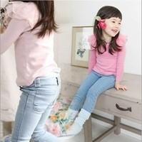 free shipping retail new 2014 Fall Kids children's pants denim leggings,trousers for girls baby designer jeans,2 colors