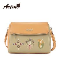 For ar tmi2014 the trend of fashion vintage messenger bag female embroidered one shoulder women's handbag