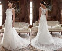 New white/ivory Lace Wedding Dress Bridal Dresses Custom size 2 4 6 8 10 12 14 16+++++