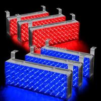 Red & Blue 288 LED Car Vehicle Flashing Strobe Emergency Lights for Front Grille Deck  6x48LED light