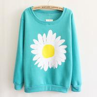 Printing new harajuku women's round neck fleece sweatshirt fashion