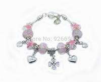 PH097 HOT SALE Wholesale 925 sterling Silver European Style Charm Chamilia DIY Bracelets Bangles for Women Fashion Jewellery