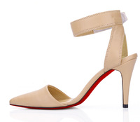 The new Red Hot Spring pointed high-heeled sandals, evening shoes