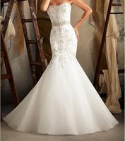 2014 new wedding dress wedding gown Swarovski Crystals on Soft Satin