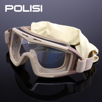 Polisi gogglse windproof antimist radiation-resistant safety goggles glasses