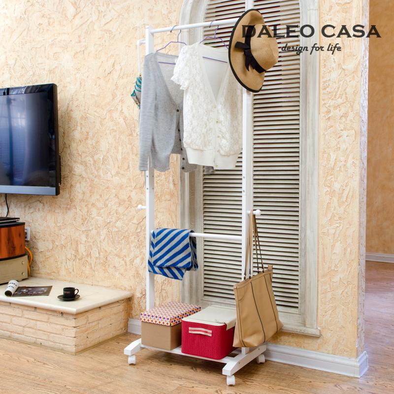 Korean European double rod hangers coat rack floor bedroom clothes rack drying rack IKEA style furniture design(China (Mainland))