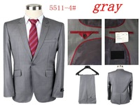 2014 New Fashion Mens Casual Sportswear Wedding clothes Suit (jacket + Pants) Free Shipping Promotion