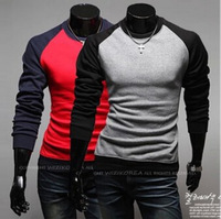 Hot Sales!New Arrival High Quality Men's T-shirt Mixed Colors Casual T-shirt Neck Long-sleeved T-shirt 2 Colors 100% Cotton
