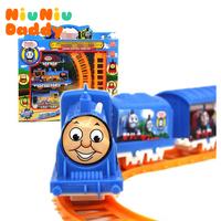 Niuniu Daddy Electric toy train track , the classic children's toys, RAILCAR Rail train,Free shipping