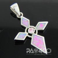 Pink Topaz Angel Pink Fire Opal Silver Fashion Jewelry Women & Men Pendant OCP0167FC  Wholesale & Retail