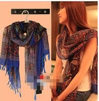 50%  discount  2014  new  fashion woman's  Bohemian  summer  autumn  Fluid scarf vintage cape fashion scarf new arrival