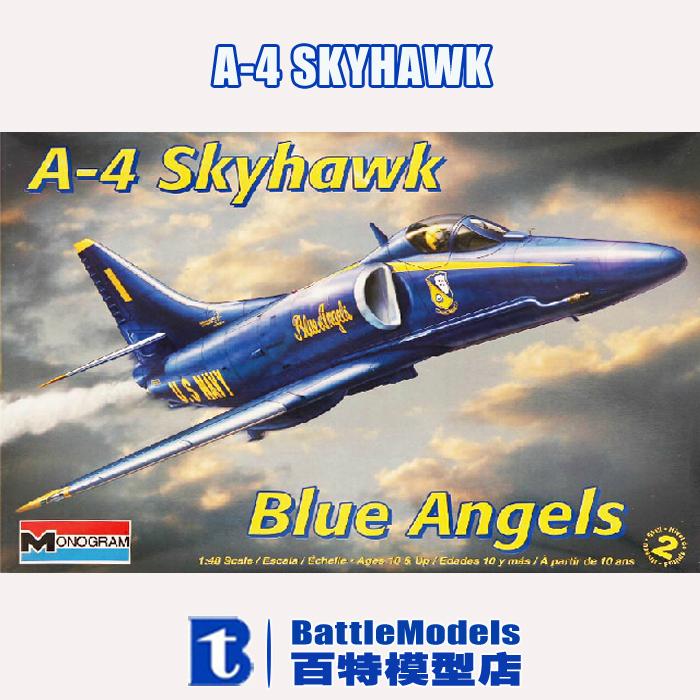 Revell MODEL 1/48 SCALE military models #85-5310 A-4 Skyhawk Blue Angels plastic model kit(China (Mainland))