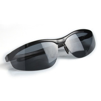 High quality HOT aluminum men goggles sunglasses for traveling or driving