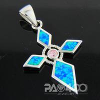 Pink Topaz Pacific Blue Fire Opal Silver Fashion  Jewelry Women & Men Pendant OCP0167LC  Wholesale & Retail