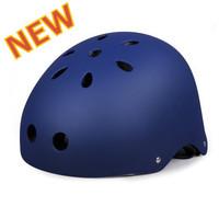 High Quality Matt Deep-Blue Helmet Fixed Gear Bicycle Helmet Solid Color 11 Holes Skate Helmets X-sports Head Protection