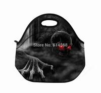 Black Skull Insulated Lunch Tote Bag Cooler Neoprene lunch baby bag Handbag Case\Lunch Tote Cooler Bag Handbag