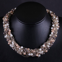 New Aliancas Recommended Jewelry Fashion Imitation Pearls Handmade Choker Necklace for Women Free Shipping (Mini order is $15)