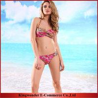 Free Shipping Wholesale Hot Sale Swimwear Women Padded Boho Fringe Bandeau Bikini Set Swimsuit Lady Bathing suit BKN 001