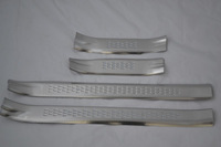 Internal Door Sill inner Scuff Plate Fit for Haval Great Wall M4 2012 2014 Stainless Steel 4pcs per set