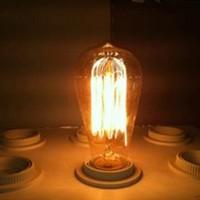 """american vintage"" St58 edison style light bulbs e27 screw-mount incandescent filament light bulb 40w,Free Shipping"