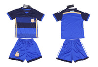 2014 World Cup Argentina kids/boy soccer jerseys(shirts+shorts) Argentina jersey for kids