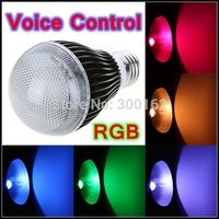 9W RGB LED Light Voice Music Control Energy Saving Bulb with IR Remote