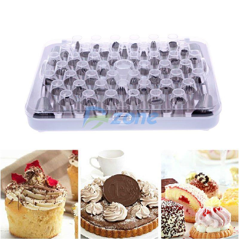 52Pcs/Lot Stainless Steel Piping Nozzle Pastry Tube Fondant Cake Decorating Tool Set#57609(China (Mainland))