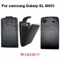Hot classic flip full protect Leather phone Cases For Samsung Galaxy SL I9003 VRB EXW DHL Fedex UPS drop shipping