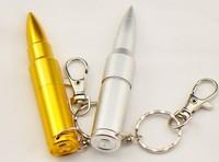 Sale 10pcs/lot Silver Metal Bullet Shape Genuine USB 2.0 Flash pen Drive disk Memory Sticks 1GB 2GB 4GB 8GB 16GB 32GB wholesale