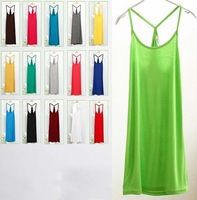Fashion Free Shipping Women Camis tops Dress Summer Lady Sleeveless Vest Sexy Dress 10 colors