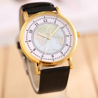 2014 new arrival Hot Sale Retro World Map Watch Fashion Leather Alloy Women Casual Analog Quartz Wrist Watch items,free shipping